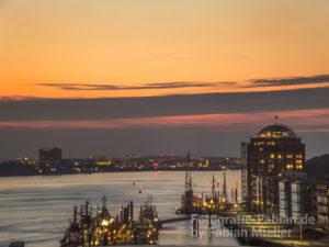 Dockland Sonnenuntergang