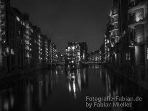 Hamburg Wasserschloss Schwarz/Weiß