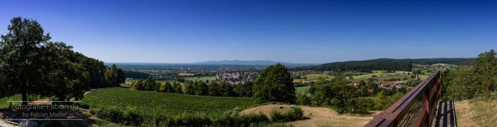 Panorama Ausblick Hochburg Sexau